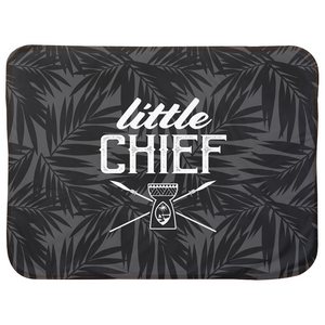 Little Chief Guam Gray Baby Sherpa Blanket