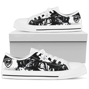 Guam Black Floral Low Top Shoe