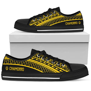 Guam Seal Chamorro Tribal Low Top Shoe Yellow