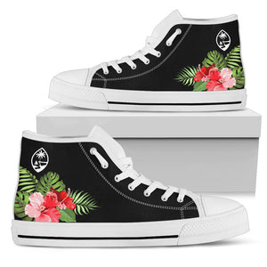 Guam Red Hibiscus High Top Shoe