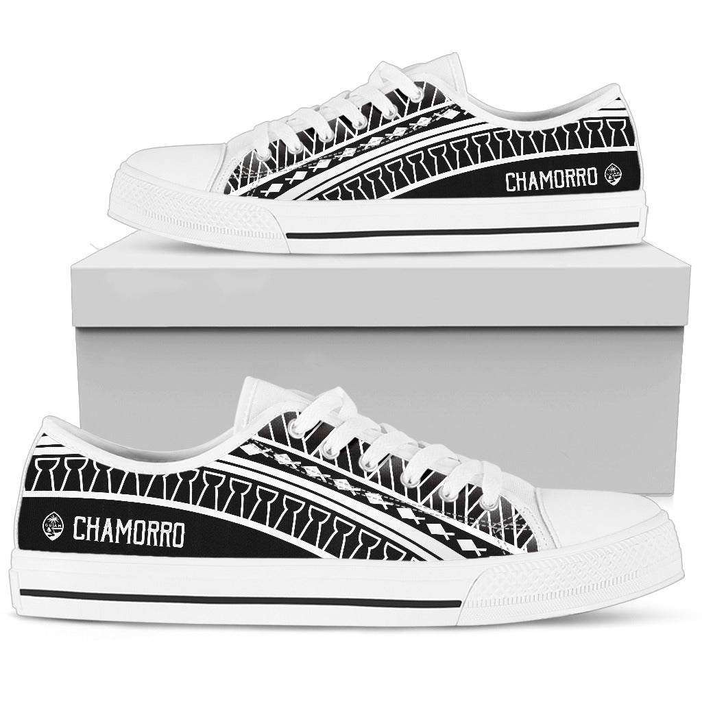 Guam Seal Chamorro Tribal Low Top Shoe
