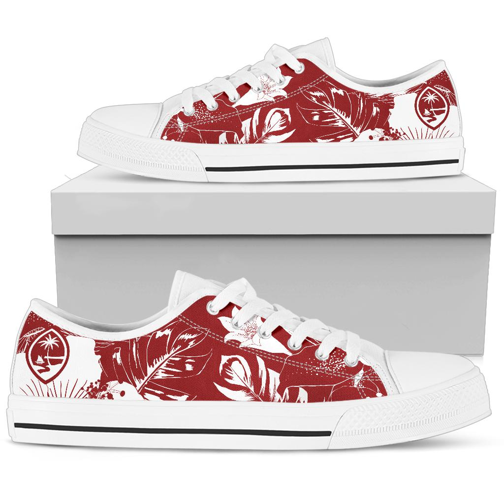 Guam Red Floral Low Top Shoe