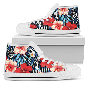 Guam Tropical Floral High Top Shoe