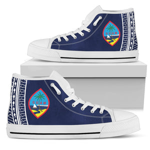 Tribal Guam Seal Blue High Top Shoe