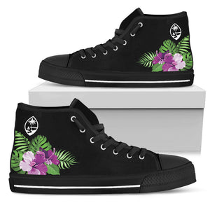 Guam Purple Hibiscus High Top Shoe