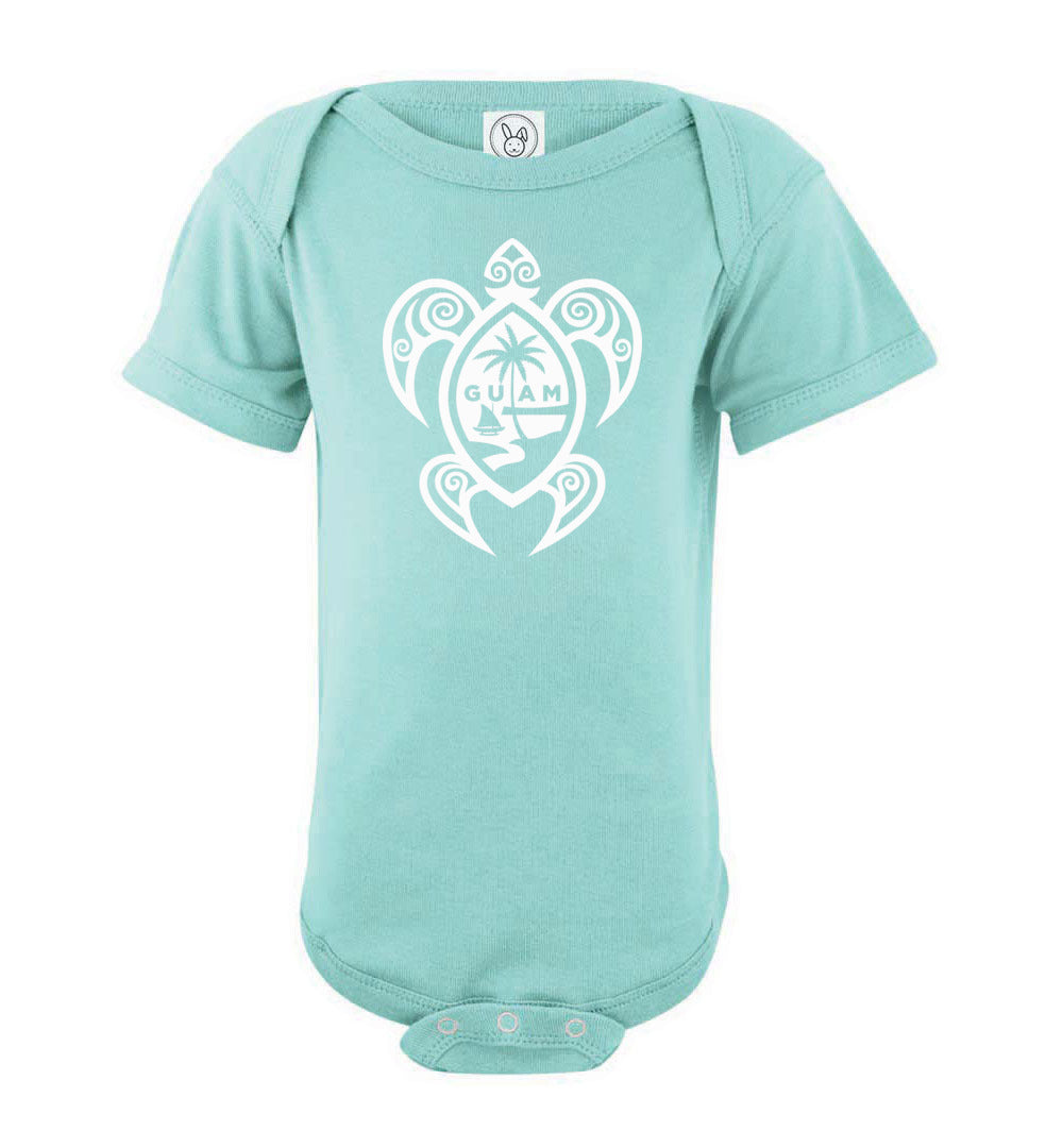 Guam Tribal Turtle Infant Baby Bodysuit