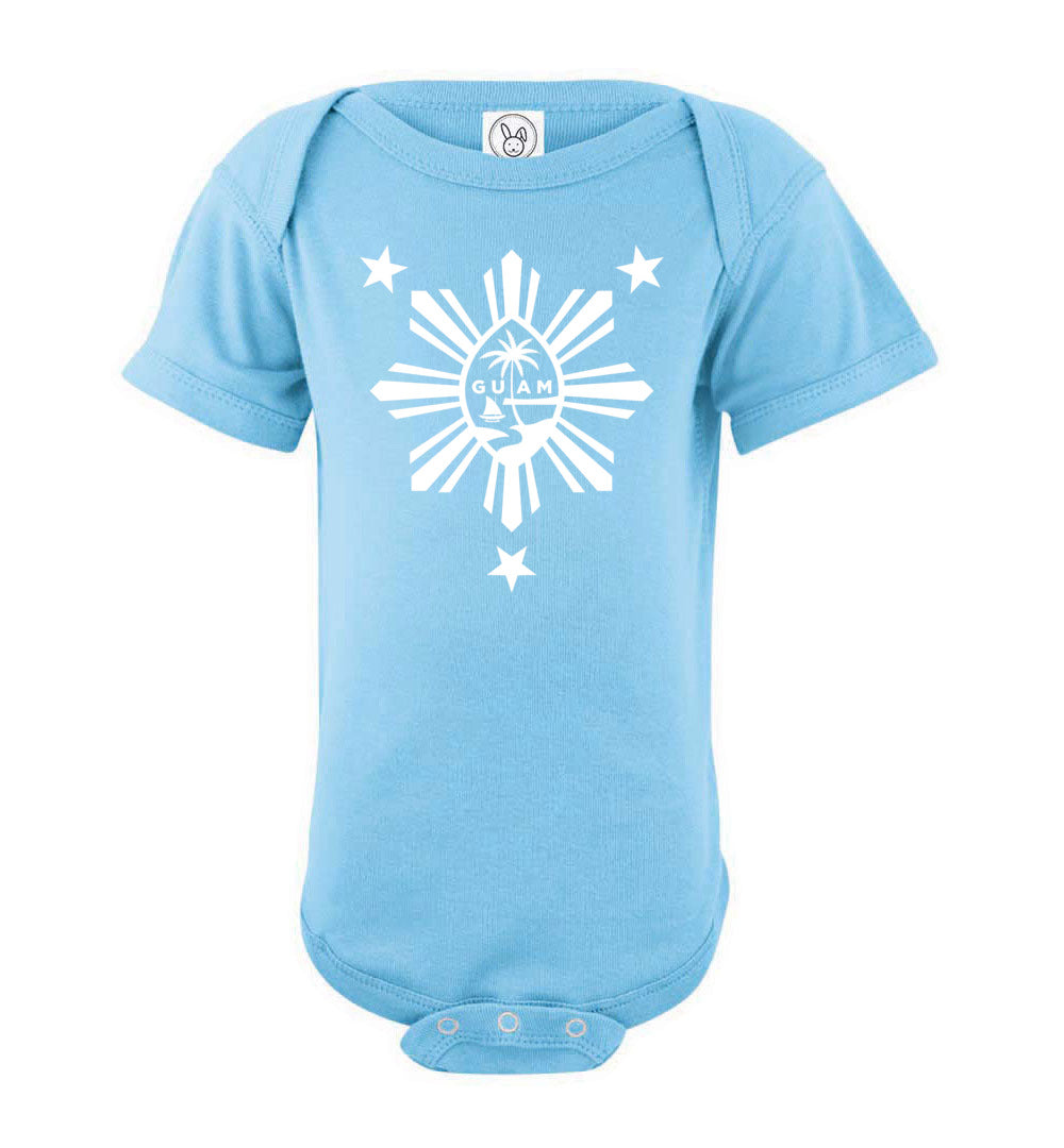 Guam Seal and Philippines Star Baby Bodysuit