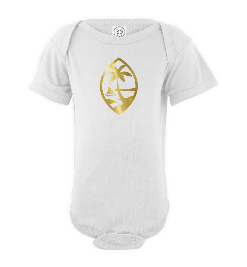 Gold Guam Seal Baby Bodysuit