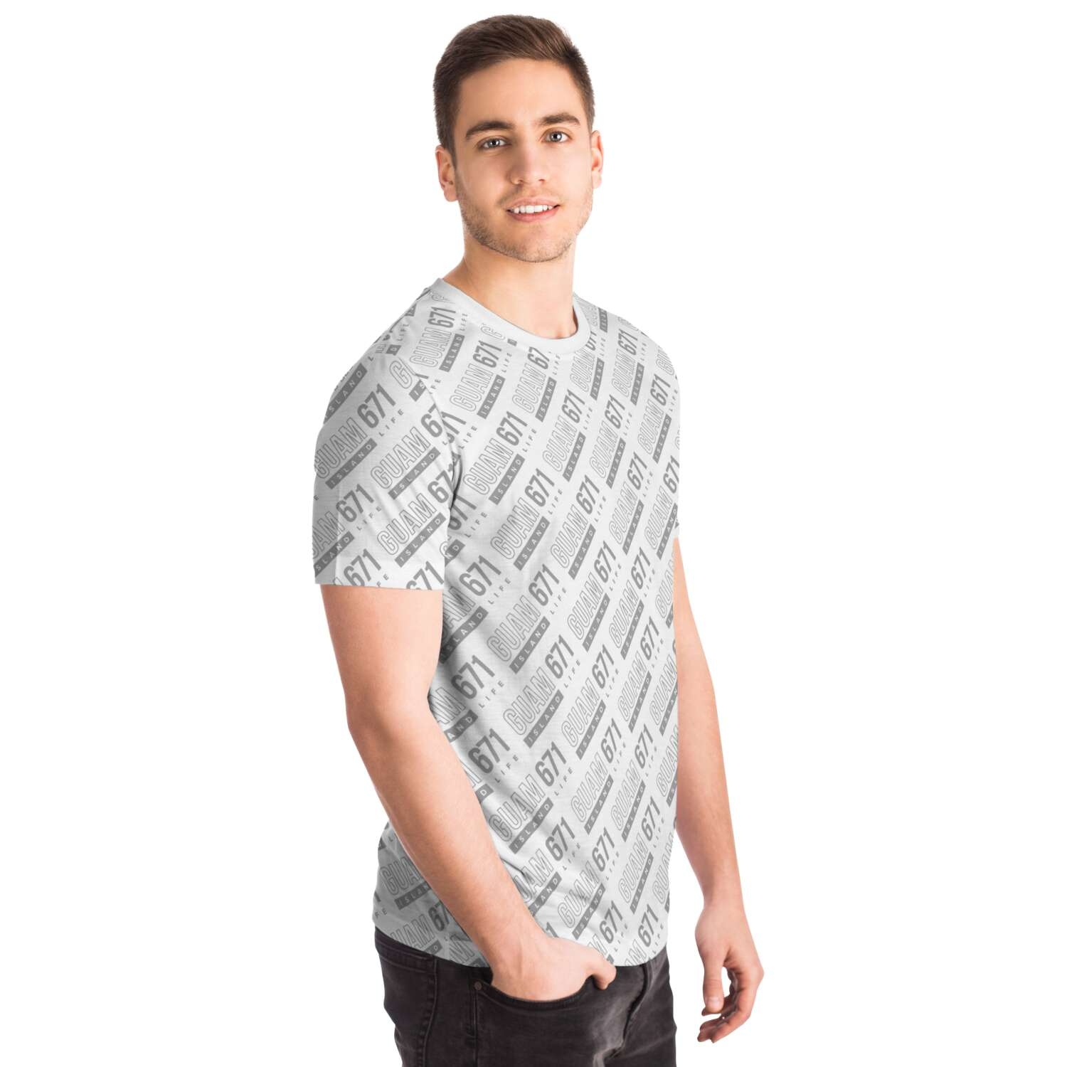 Guam 671 All Over Print Unisex T-Shirt