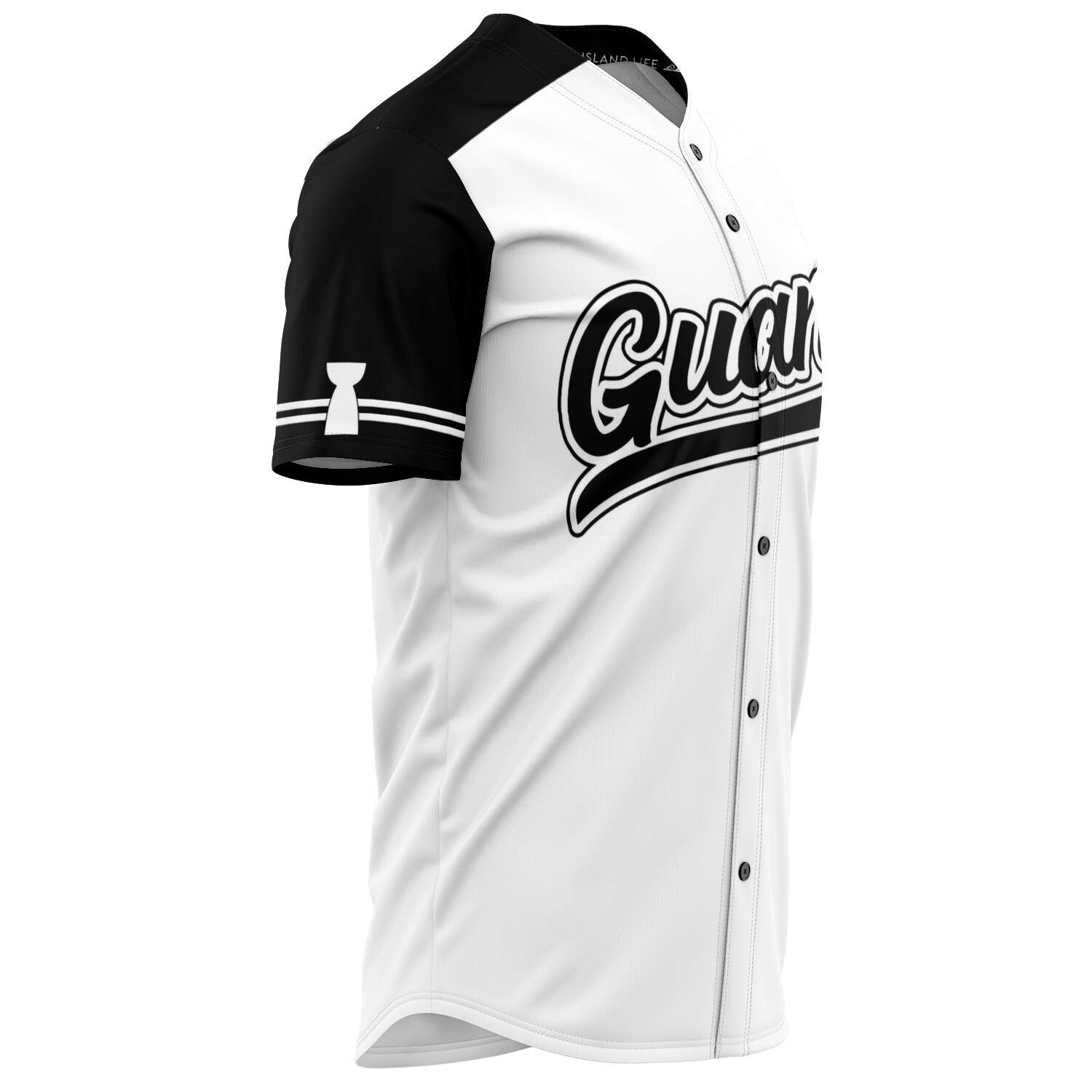 Guam Black and White Baseball Jersey