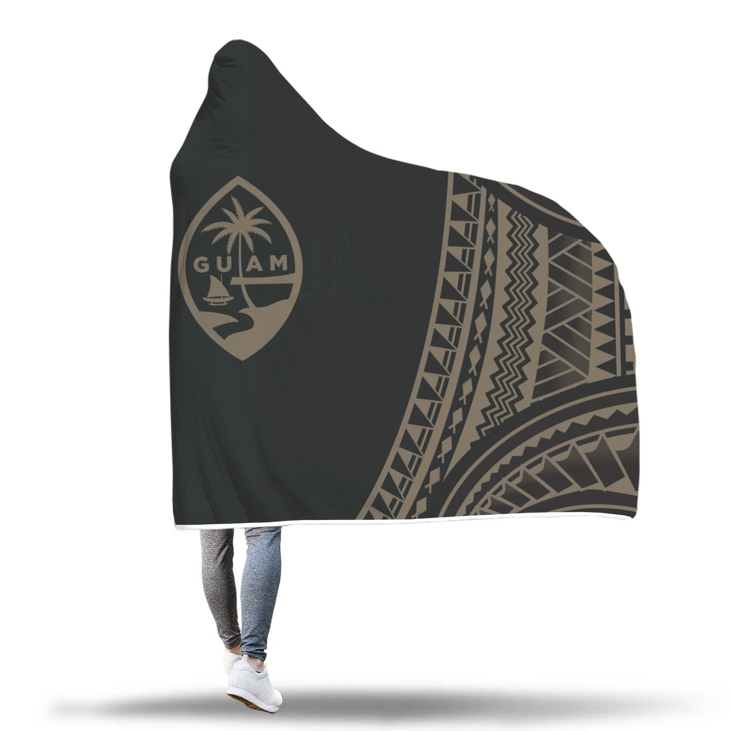 Guam Seal Chamorro Tribal Hooded Blanket