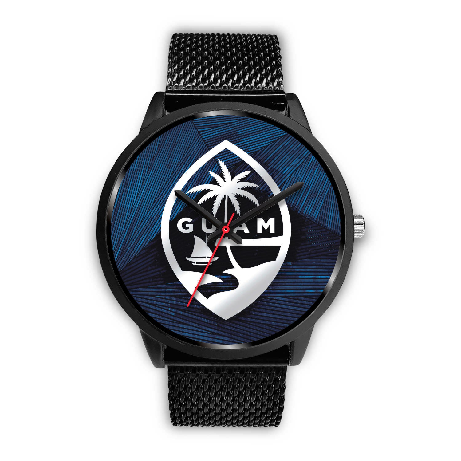 Guam Seal Chamorro Islander Blue Watch