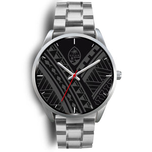 Guam Seal Tribal Silver Watch
