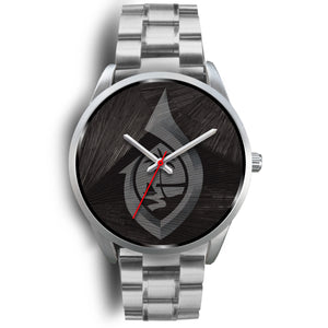 Guam Seal Hook Chamorro Islander Black and Silver Watch