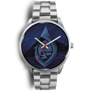 Guam Seal Hook Chamorro Islander Blue and Silver Watch