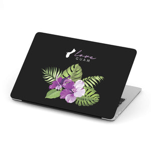 Love Guam Purple Hibiscus MacBook Case