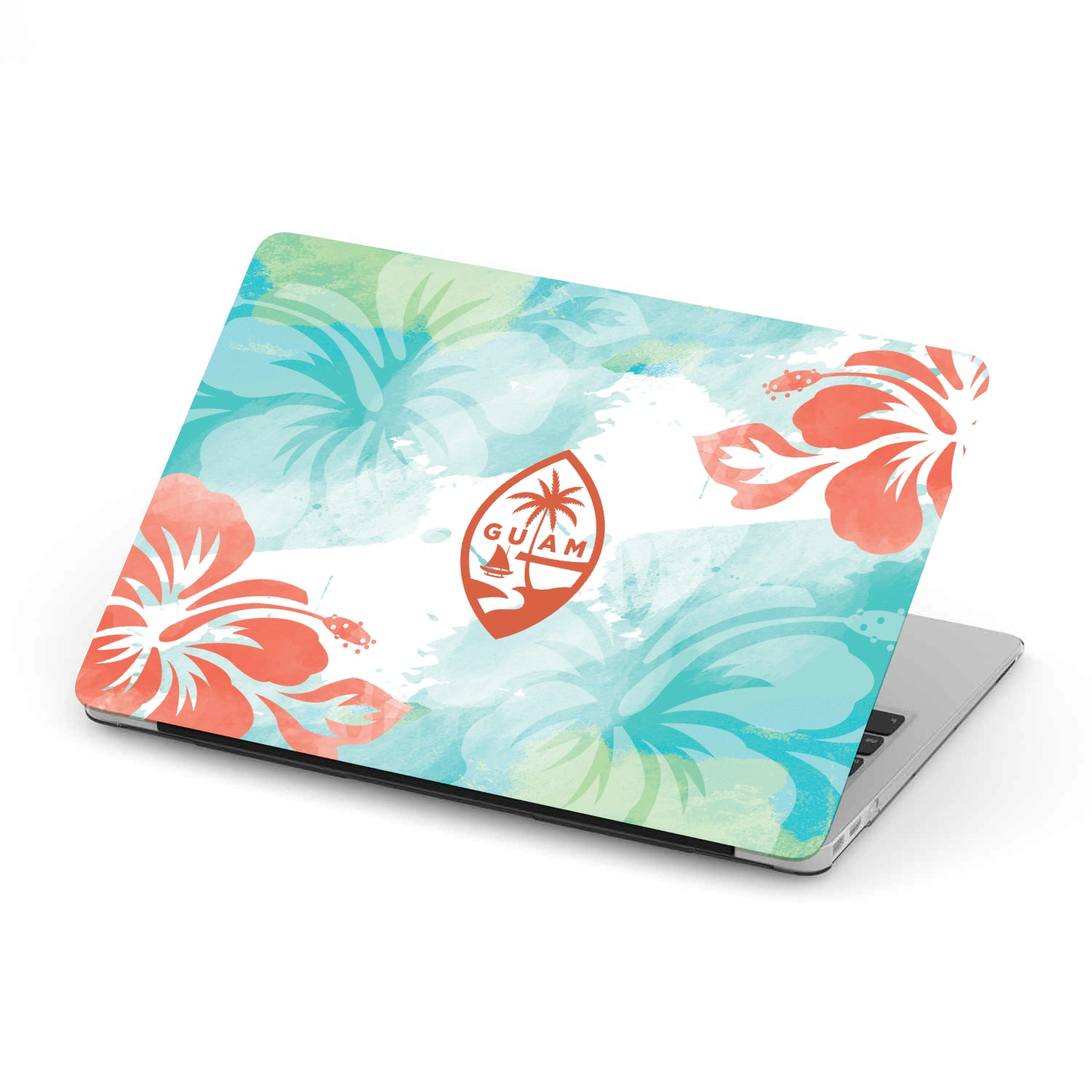 Guam Seal Hibiscus MacBook Case