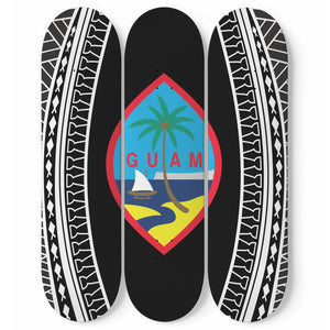 Guam Seal Tribal Skateboards Set of 3