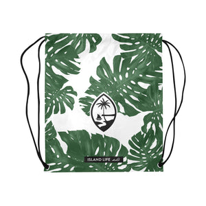Guam Lemai Leaves Large Drawstring Bag