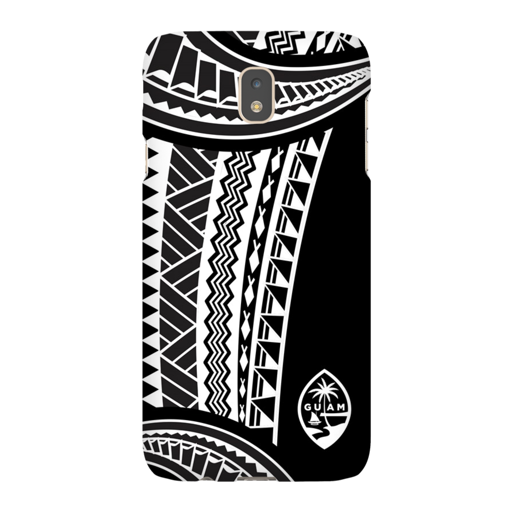 Guam Seal Island Tribal White Premium Glossy Tough Phone Case