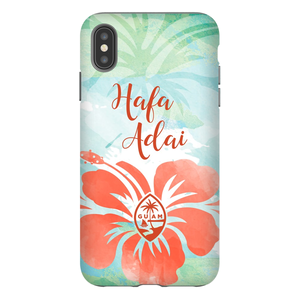 Hafa Adai Guam Chamorro Tropical Island Premium Glossy Tough Phone Case