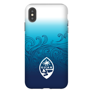 Guam Ombre Waves Premium Glossy Tough Phone Case