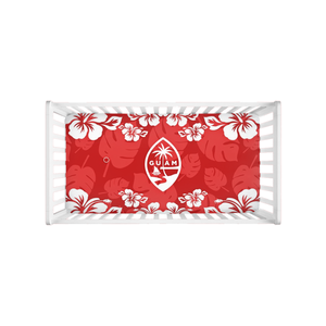 Guam Seal Red Hibiscus Baby Crib Sheet