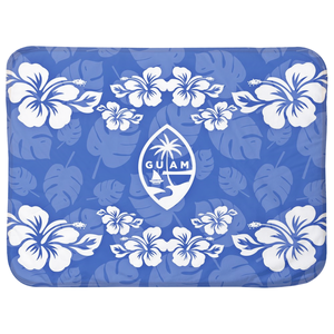 Guam Seal Blue Hibiscus Baby Sherpa Blanket