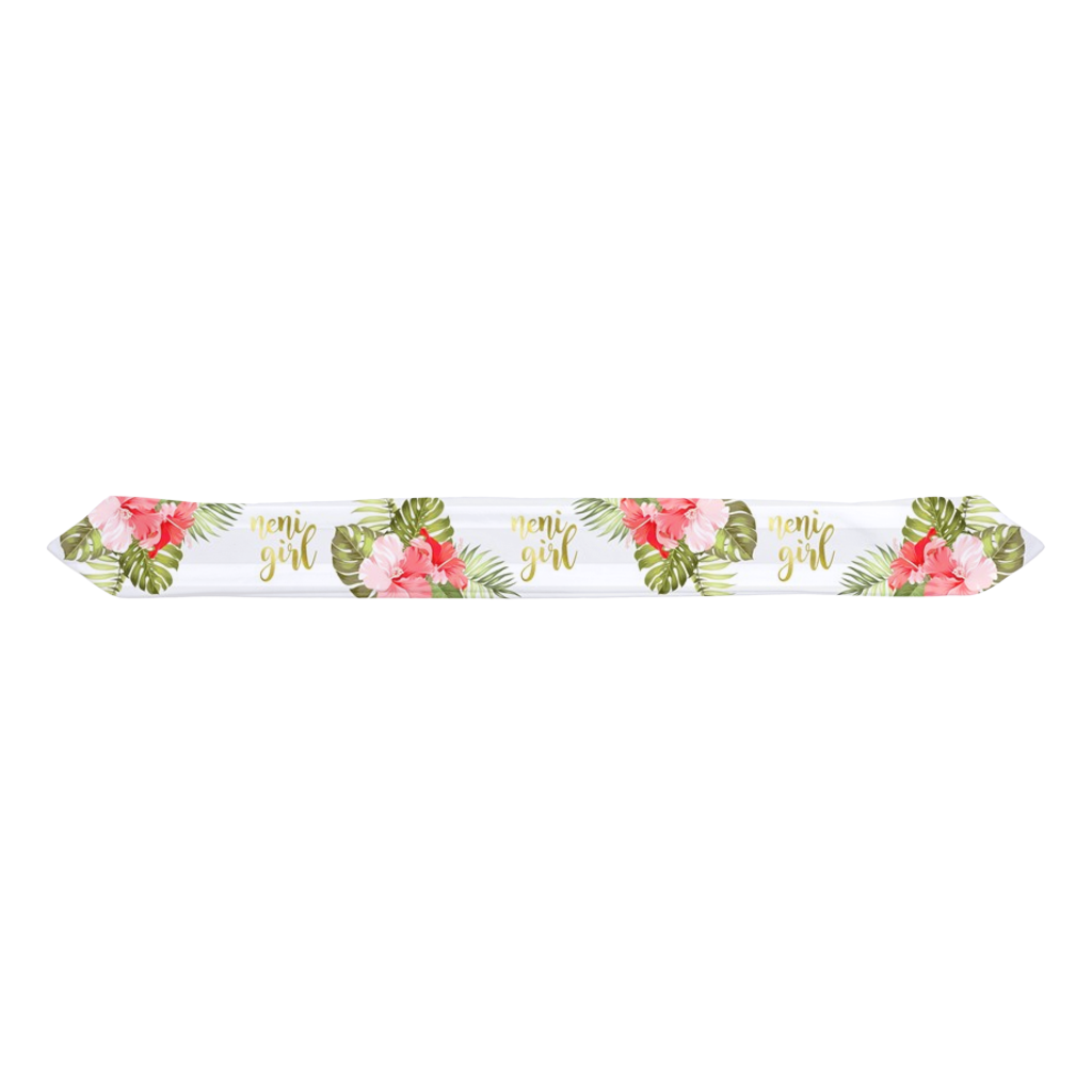 Neni Girl Hibiscus Striped Baby Headband
