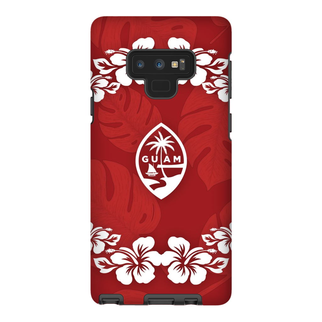 Guam Seal Red Hibiscus Premium Glossy Tough Phone Case