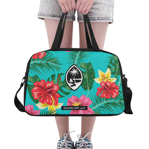 Floral Guam Fitness Gym Bag