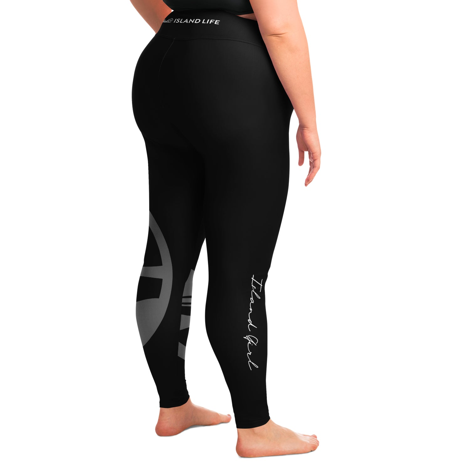 Guam Seal Island Girl Black Curvy Leggings