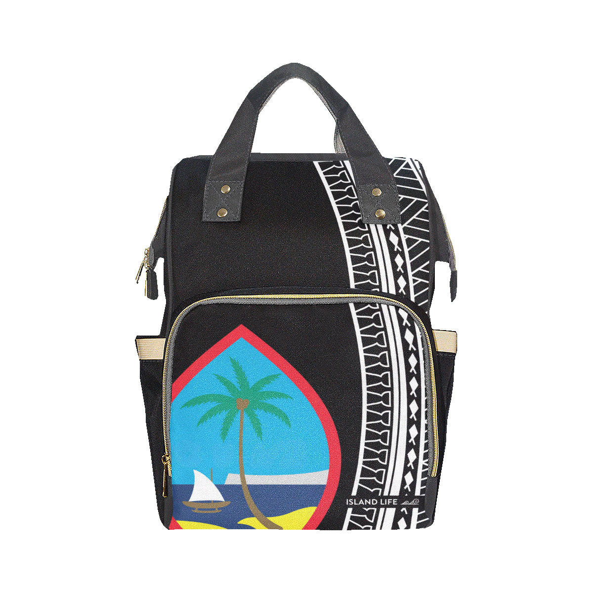 Guam Tribal Multi-Function Baby Diaper Backpack Bag