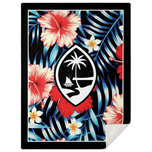 Guam Tropical Floral Microfleece Blanket