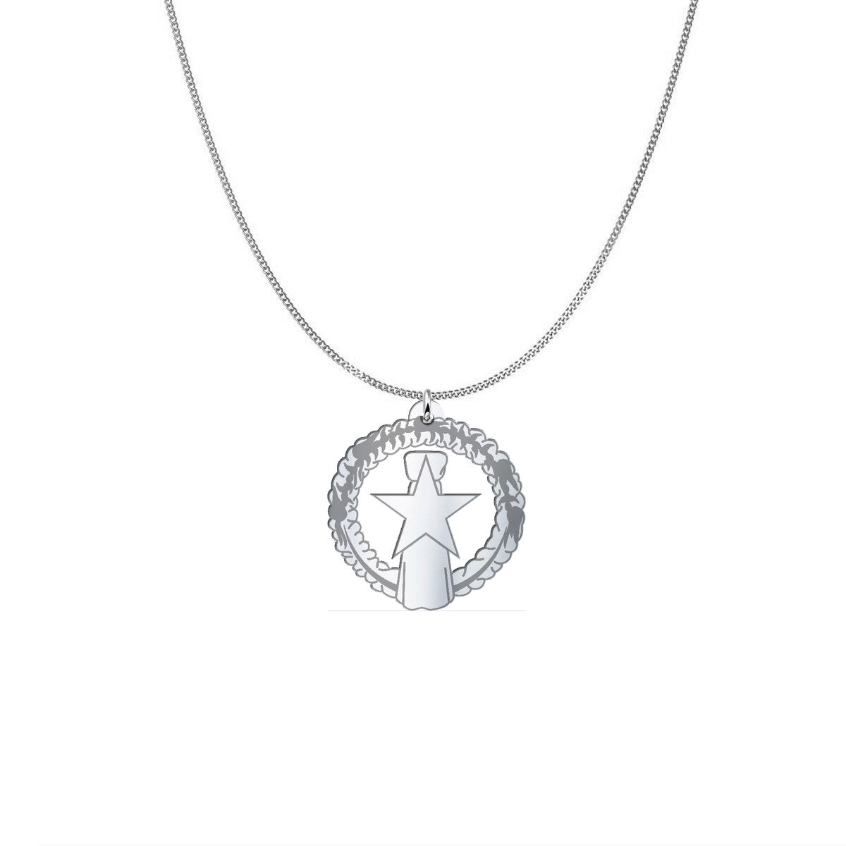 CNMI Seal Saipan Sterling Silver Necklace