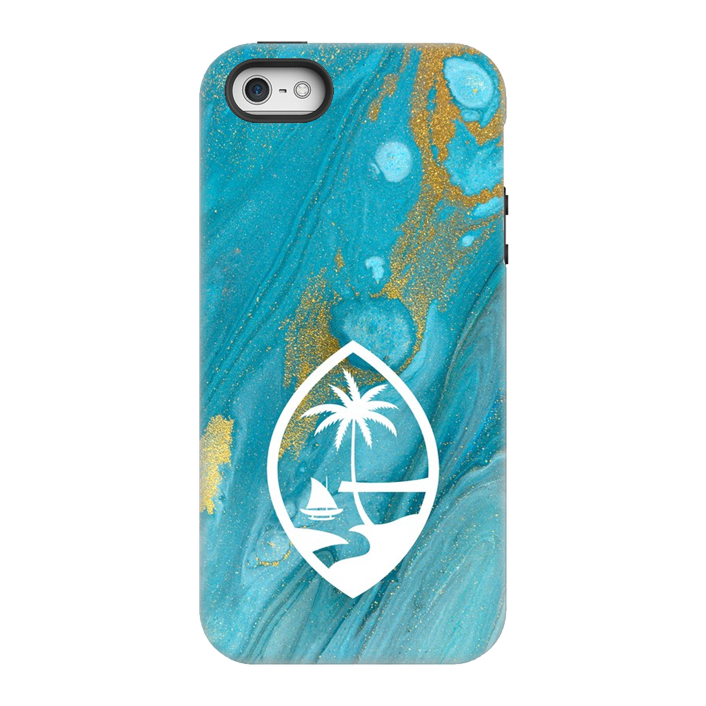Guam Blue Marble Premium Glossy Tough Phone Case