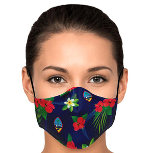 Guam Flag Flowers Face Mask for Youth and Adults