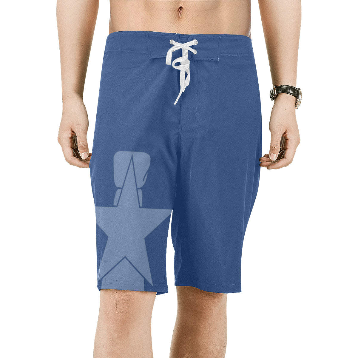 CNMI Seal Saipan Blue Men's All Over Print Board Shorts