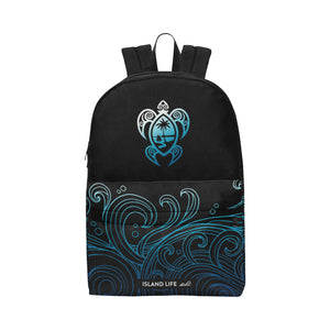 Guam Turtle Black Ombre Waves Unisex Classic Backpack