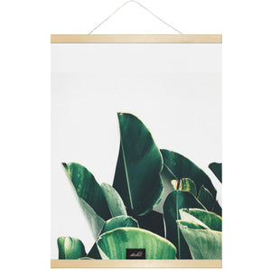 Banana Leaves Guam CNMI Hanging Canvas Poster with Wood Frame