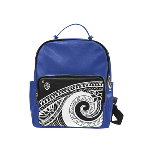 Guam Seal Black Tribal Blue Campus Backpack