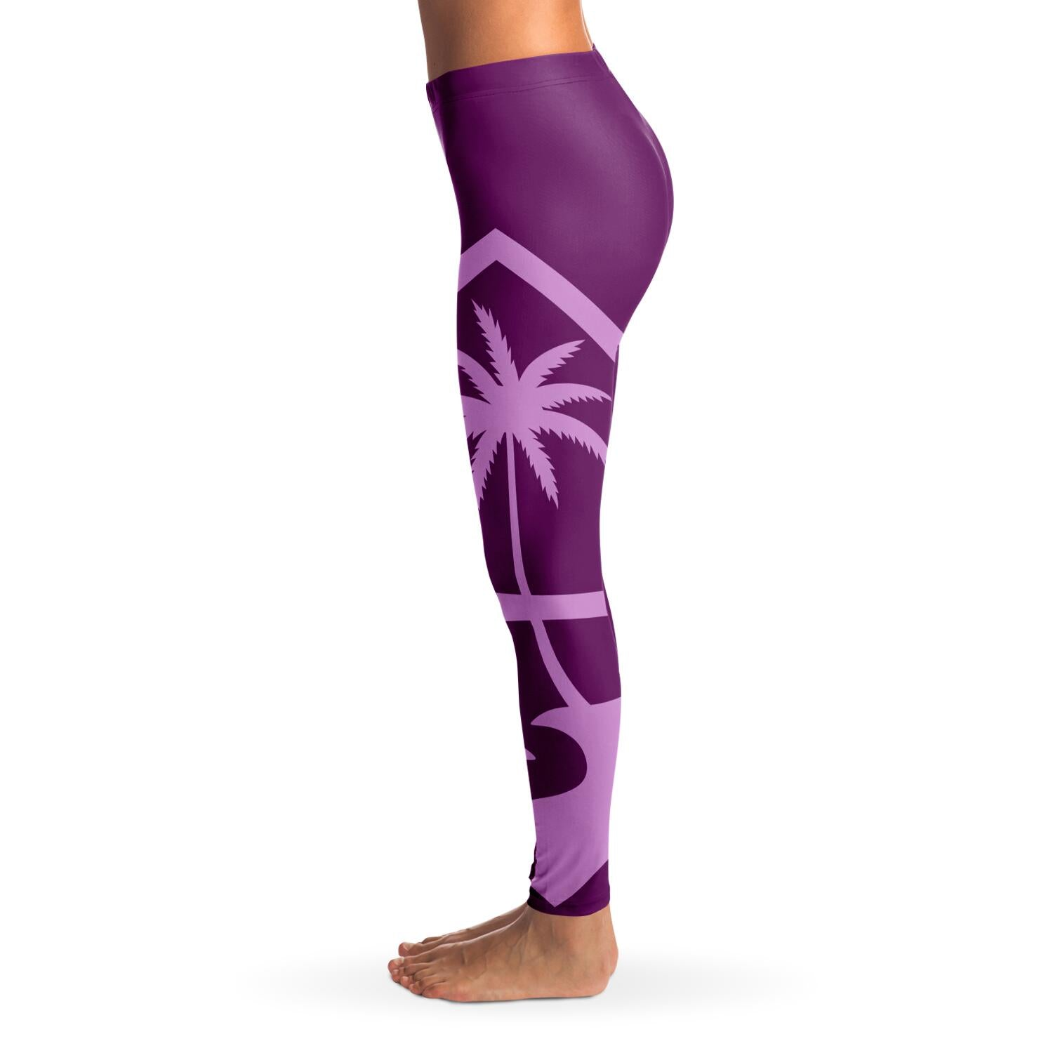 Guam Seal Island Girl Purple Premium Leggings