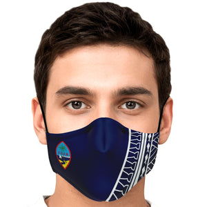 Guam Seal Tribal Blue Face Mask for Youth and Adults