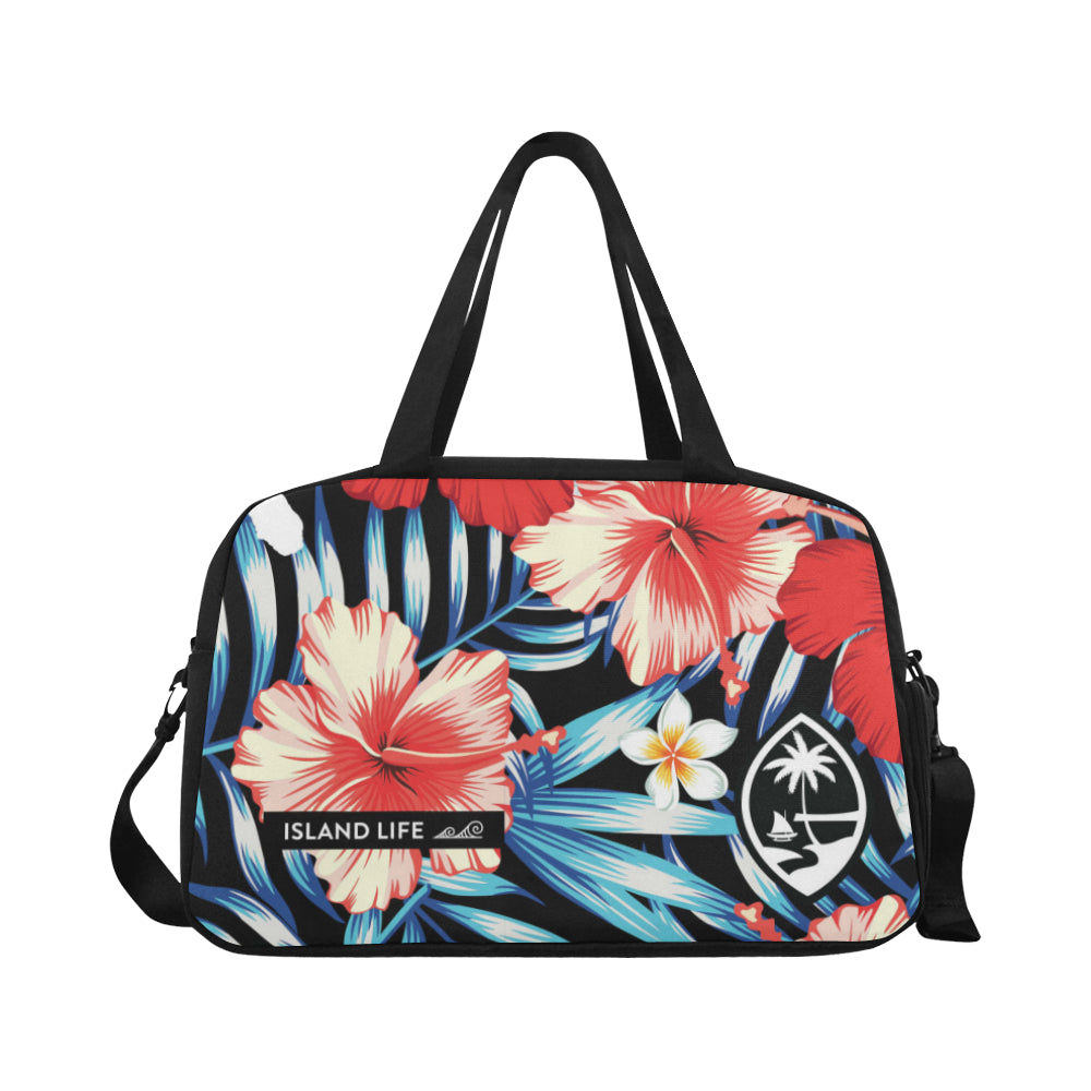 Guam Tropical Floral Fitness Gym Bag