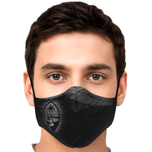 Guam Seal Black Wood Face Mask for Youth and Adults