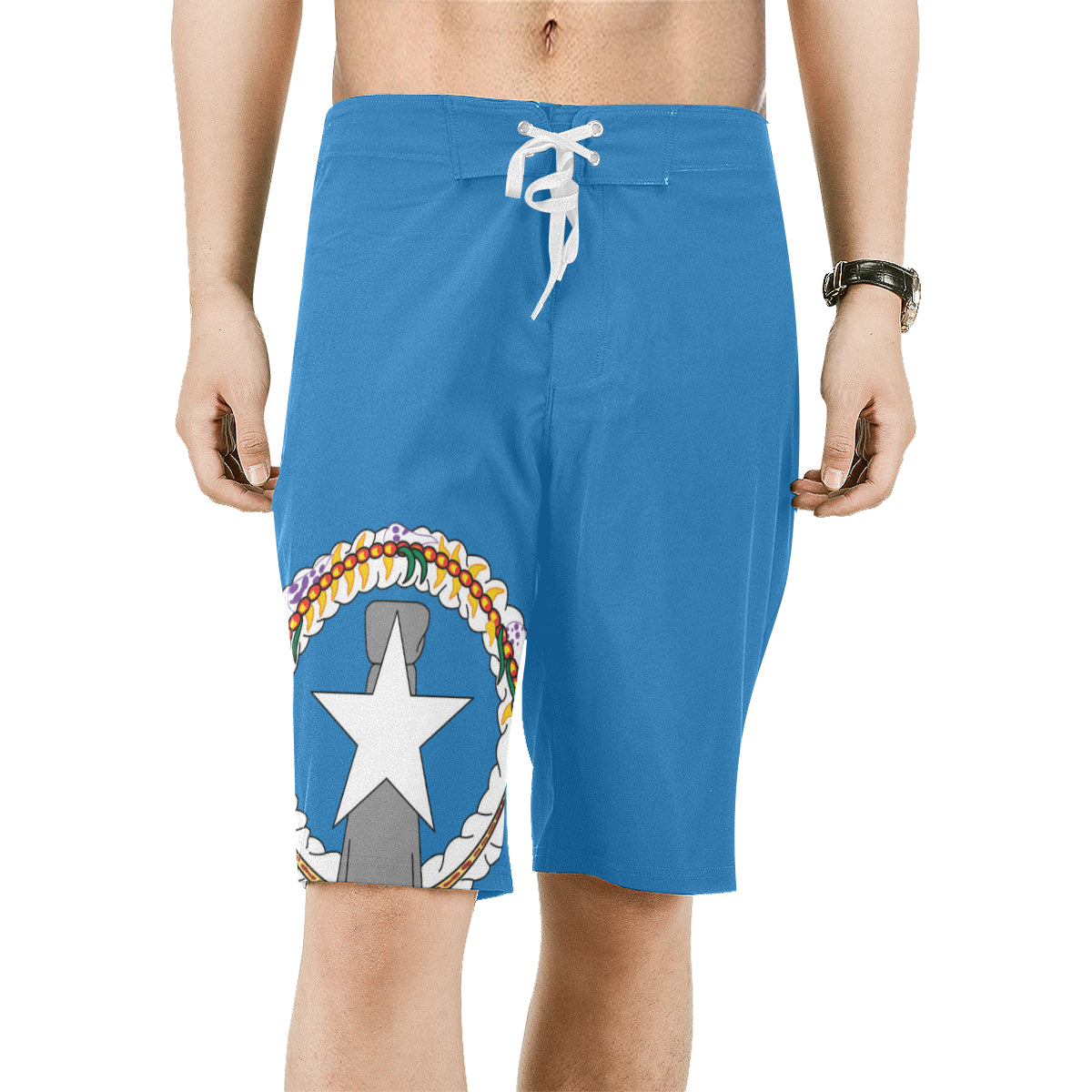 CNMI Flag Saipan Men's All Over Print Board Shorts