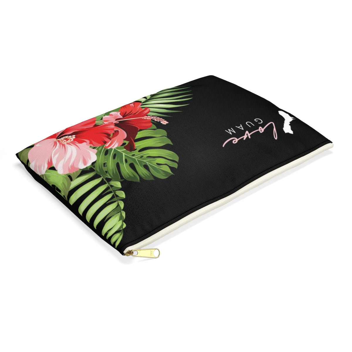 Love Guam Red Hibiscus Accessories Carry All Pouch