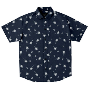 Guam Seal Coconut Trees Button Down Shirt