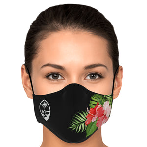 Guam Red Hibiscus Face Mask for Youth and Adults
