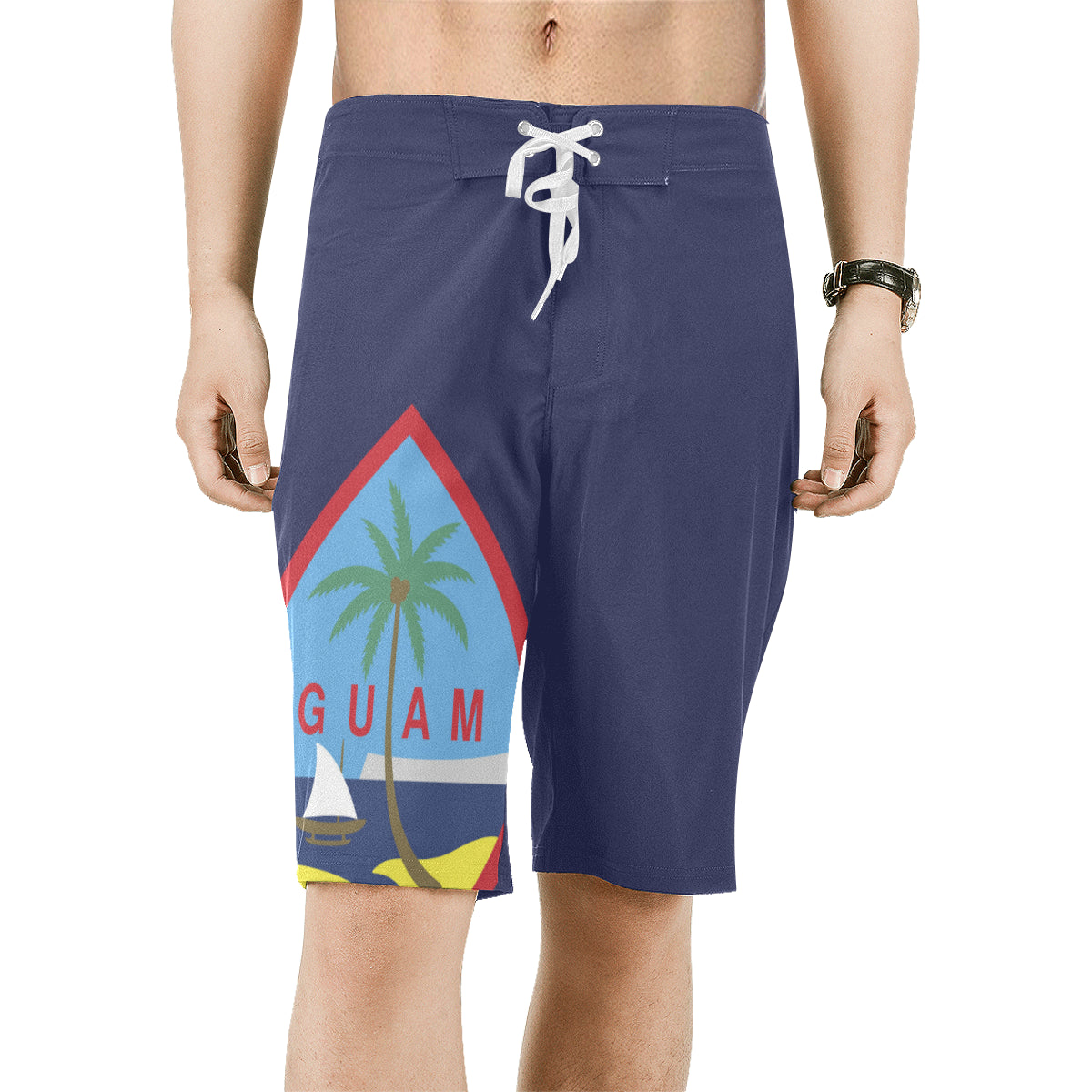 Guam Flag Mens All Over Print Board Shorts